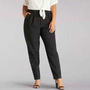 LEE Tapered Leg Side Elastic Plus-Sized BLACK Pant